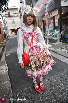 Emika  harajuku, tokyo  Lolita  SUMMER 2012, girls  Kjeld Duits    STUDENT, 18    Blouse – Baby, the stars shine bright  Dress – Baby, the stars shine bright  Shoes – Angelic Pretty  noel0214 @ twitter