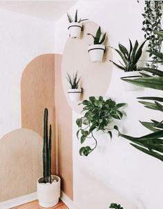 Peignez vos murs avec personnalité | Le joli tiroir Diy Bedroom Decor, Diy Home Decor, Bedroom Wall Designs, Bathroom Designs, Bedroom Colors, Aesthetic Room Decor, Plant Aesthetic, Organic Modern, Plant Decor