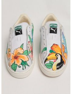 aa85d072 #puma #sneakers #limited edition Tatto Floral, Puma Tennis Shoes, Puma  Sneakers