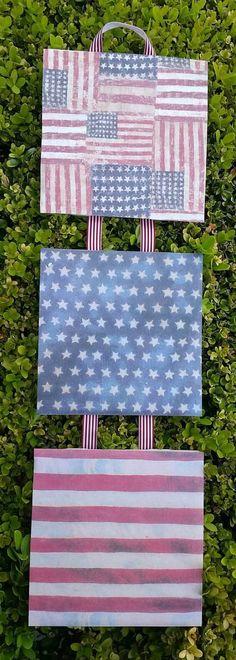 "Patriotic Stars /& Stripes Country Pride Boot Planter 10/""H Ceramic"