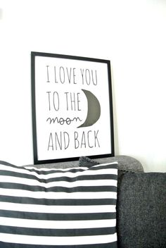 Via Paqhuis | I Love You To The Moon & Back | Black and White