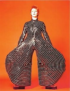 """""""The Kansai Yamamoto costume designs that Kansai and I chose for the Ziggy Stardust and Aladdin Sane tours contributed significantly to pushing away from the 60s and for creating new sensibilities for the post-modern 70s. Kansai's brave ideas brought Japanese clothes design to the forefront of fashion."""" - David Bowie 2008."""