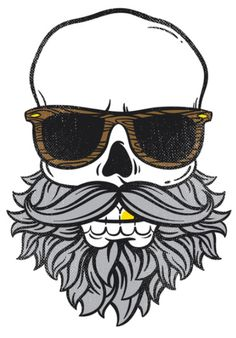Skull Beard with Sunglasses
