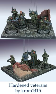 Forgeworld Imperial Guard Cadian Veteran Command Squad