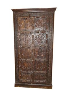 Antique Floral Carved Armoire Teak Indian Furniture by Mogul Interior, http://www.amazon.com/dp/B00CHYH9JM/ref=cm_sw_r_pi_dp_3LiErb08YKY15