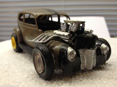 VINTAGE 1960'S Rat Rod Ancestor Car Model BOMB What Were They Thinking?  #