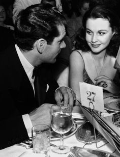 longtallsallyd: Laurence Olivier and Vivien Leigh at a dinner table in the Golden Age Of Hollywood, Hollywood Stars, Classic Hollywood, Ann Sheridan, The Searchers, Vivien Leigh, Movies And Tv Shows, Movie Stars, Famous People
