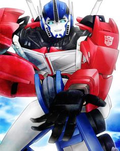Optimus: Take my hand. Me: Okay.