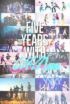 SHINee's 5 years together. <3 =''') Gee whiz, these boys are growing up...