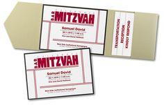 Live in Faith Pocket Bar Mitzvah Invitation