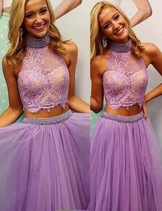 Beautiful Prom Dress, lilac prom dresses beaded prom dress sexy prom dress 2 piece prom dresses 2018 formal gown beading evening gowns two pieces party dress prom gown for teens Meet Dresses Lavender Homecoming Dress, Lilac Prom Dresses, Modest Homecoming Dresses, Prom Dresses 2016, Dresses For Teens, Party Dresses, Graduation Dresses, Luulla Dresses, Prom Dreses