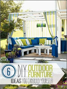 6 Great DIY Outdoor Furniture Ideas - @tipsaholic. #DIY #outdoorfurniture #patio #summer