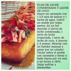 """""""Receta Flan de Leche Condensada con Leche de Coco"""" Photo taken by @virginiademariaoficial on Instagram, pinned via the InstaPin iOS App! http://www.instapinapp.com (09/07/2015)"""