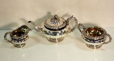 Currently at the #Catawiki auctions: Solid Sterling Silver Tea Set, ,Edinburgh, 1829, Made by James Howden & Co