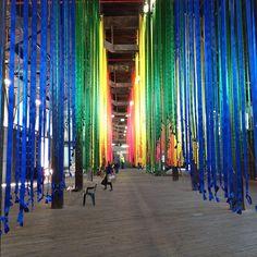 Tiffany Singh's rainbow at Pier 2/3 for Biennale of Sydney