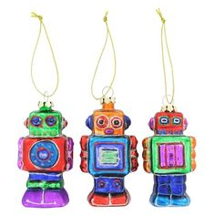 Robot tree decorations from Paperchase