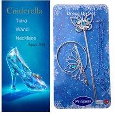 2015 Newest Girl Cinderella Crown Set Crown And Butterfly Magic Wand And Necklace Cosplay Party Cinderella Crown Ljjc801 Kids Jewerly Gold Bracelets For Babies From Qltrade_10, $2.31| Dhgate.Com