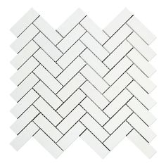 Premium (SELECT) Quality THASSOS WHITE MARBLE 1 X 3 HERRINGBONE MOSAIC TILE HONED, Shower, Backsplash, Bathroom, Kitchen, Decorative, Floor, Wall, Ceiling, Powder Room, Deck & Patio, Countertop, Commercial and Residential (Interior & Exterior), Indoor, Outdoor
