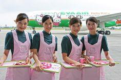 HK Jet - Taiwanese Eva Air has a Hello Kitty airplane that flies between Taiwan and Japan.