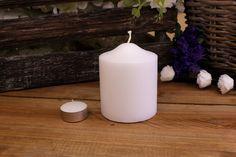 Κεριά Κυλινδρικά Λευκά Φ8x10εκ Pillar Candles, Taper Candles