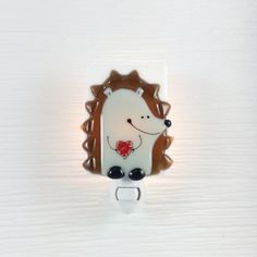This unique fused glass nightlight veille sur toi is handmade with great care!It's a perfect present for the future mother or a newborn baby. Brown Babies, Nightlights, Forest Friends, Electrical Outlets, Baby Room Decor, Glass Design, Glass Ornaments, Fused Glass, My Etsy Shop