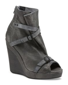 Leather Hanson Wedge Bootie