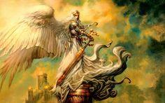 fantasy art angels | Fantasy - Angel Warrior Wallpaper