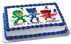PJ MASKS 6 Edible Birthday Cake Topper