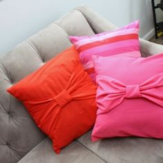 15 minute Big Bow Pillow case Tutorial