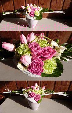 Atelier Rose-Thé - art floral Deco Floral, Art Floral, Concrete Pots, Ikebana, Flower Arrangements, Creations, Arts And Crafts, Bouquets, Flowers