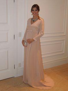 Evening Dresses 2016 Long Sleeve V-Neck A-Line Chiffon Elegant Robe De Soiree For Pregnant Women Formal Party Dress Gown
