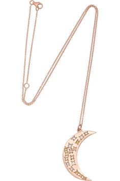 Brooke Gregson 14k moon necklace with diamonds available from Net-a-Porter.com