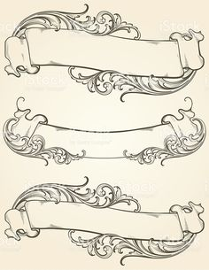 Antique Vintage Banners royalty-free stock vector art
