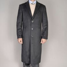 @Overstock - A classic notched collar and front flap pockets highlight this handsome wool blend 3-button overcoat from Mantoni. This fully lined men's coat is constructed with a touch of cashmere for a luxurious feel.http://www.overstock.com/Clothing-Shoes/Mantoni-Mens-Black-Wool-Overcoat/5552887/product.html?CID=214117 $69.99