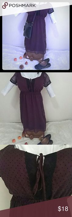 DRESS burgundy color💗 Good condition. Very pretty:) perfect for this time of the year💖☺💗💕🎉🎆🎆🎇🎇 REASONABLE OFFERS ALWAYS WELCOME☺💕💕💕💕💕 Morbid Threads Dresses Midi