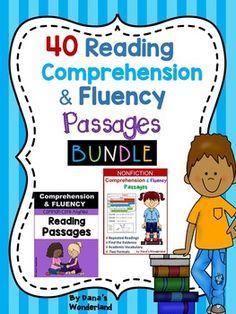 Reading Comprehension Passages  BUNDLE 40 READING COMPREHENSION and FLUENCY…