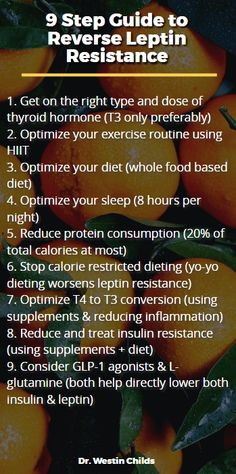 9 step guide to reverse leptin resistance