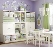 Make sure the playroom is kid friendly and is furnished for all the activities and play. Shop Pottery Barn Kids' playroom furniture including tables, lounge chairs, and more. Playroom Storage, Kids Storage, Craft Storage, Nursery Storage, Storage Room, Organized Playroom, Storage Ideas, Playroom Ideas, Toy Storage