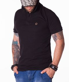 Dolce & Gabbana Short Sleeve Polos - Found Love Black Polo