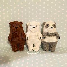 CROCHET PATTERN We Bare Bears Inspired Amigurumi  SugarLYS