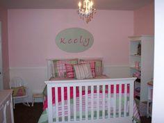 Toddler Girls Room...love the beadboard