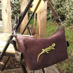 handbag with a hand-painted salamander _  сумка с ручной росписью саламандра Bags, Fashion, Handbags, Moda, Fashion Styles, Taschen, Fasion, Purse, Purses