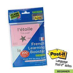 FlashSticks Haftnotizen zum Französischlernen, Level 1 An…