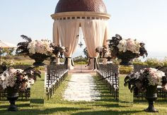 Black & White Wedding Love ~ Outdoor Ceremony