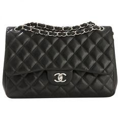 Chanel Black Leather Handbag Timeless   Vestiaire Collective