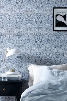 Wallpaper by ellos Tapet Kelly Wall Wallpaper, Pattern Wallpaper, Morris Tapet, Chinese Wallpaper, How To Install Wallpaper, Art Nouveau, Inspirational Wallpapers, Home Fashion, Interior Inspiration