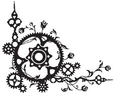 the sort of whimsical + steampunk feel that I want for graphical elements when I can have someone design them for me