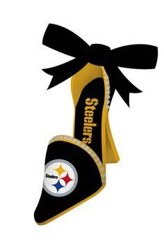 Pittsburgh Steelers High Heeled Shoe Ornament