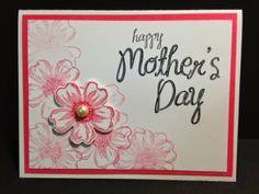 Flower Shop,  Mother's Day Card, Could be a Birthday Card or a Get Well Card, Stampin' Up!, Rubber Stamping, Handmade Cards