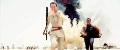 """Carrie Fisher told Ridley """"Don't be a slave like I was . . . keep fighting against that slave outfit."""" In fact, Rey's highly practical and rather sporty outfit with its criss-cross neckline and wrapped white strips of cloth evokes Luke's original costume more than anything previously worn by a Star Wars leading lady."""